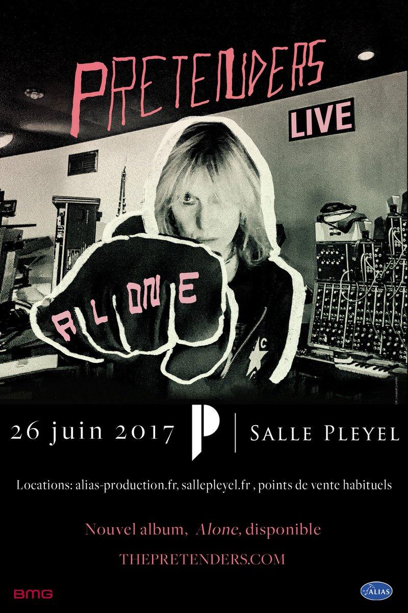 @ThePretendersHQ - 26.06.17 - 20H - @sallepleyel  Réservez-vos places sur billetterie #sallepleyel : https://t.co/ljObEGCb0g #concert #rock https://t.co/6nWCzsXC8h