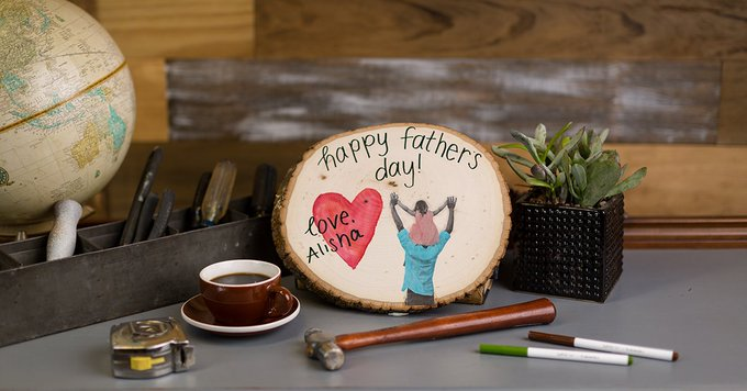 CIY-Father's Day Wood Plaque