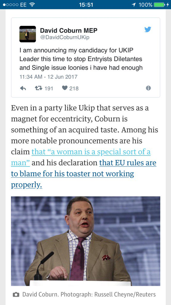 Seems like some internal unhappiness in #UKIP