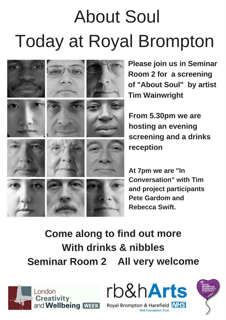 Not too late for a bit of contemplation tonight! #AboutSoul with artist Tim Wainwright and project participants #creativityandwellbeingpic.twitter.com/mEJytLkE1W