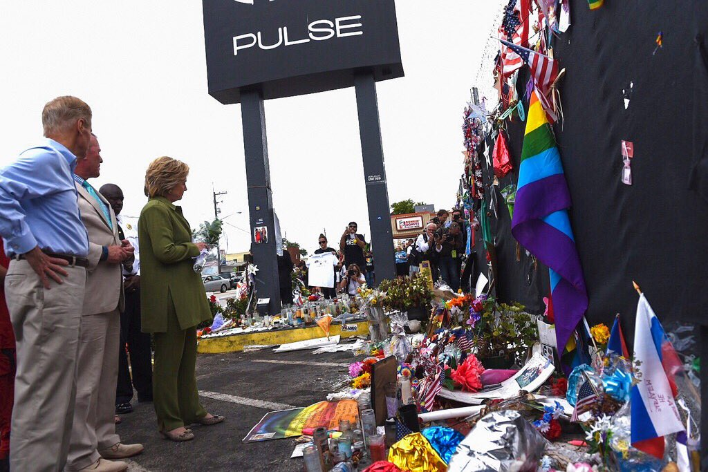 My heart is with the loved ones of the 49 people killed at Pulse, the city of Orlando, & the LGBT community. #WeWillNotLetHateWin