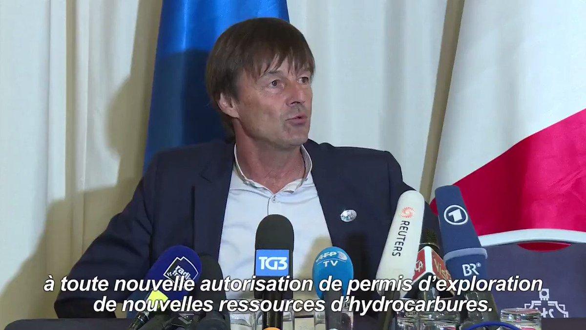 La France va accélérer la lutte contre les émissions de gaz, annonce Nicolas Hulot #AFP