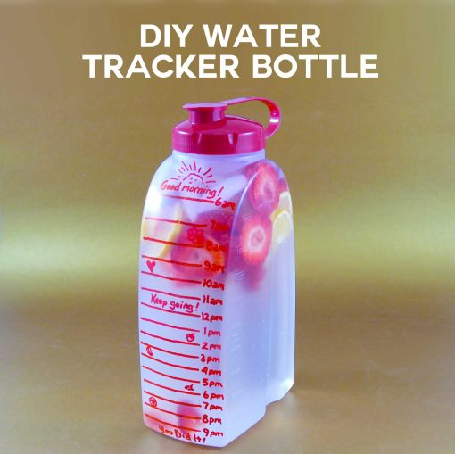 DIY Water Tracker Bottle Can Help You Lose Weight!