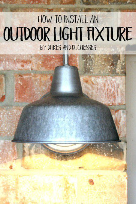 How to Install an Outdoor Light Fixture