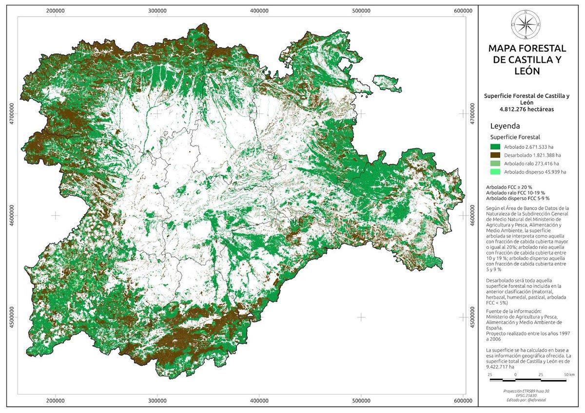 Educacion Forestal En Twitter Mapa Forestal De Castilla Y Leon