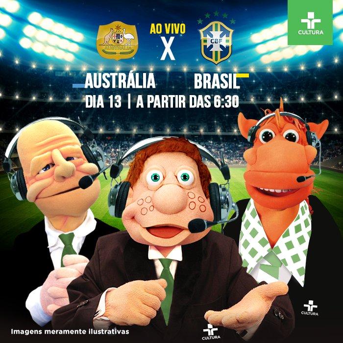 Expectativa no Paiol!  Acompanhe nesta terça-feira (13), a partir das 6h30, o amistoso entre Austrália e Brasil.