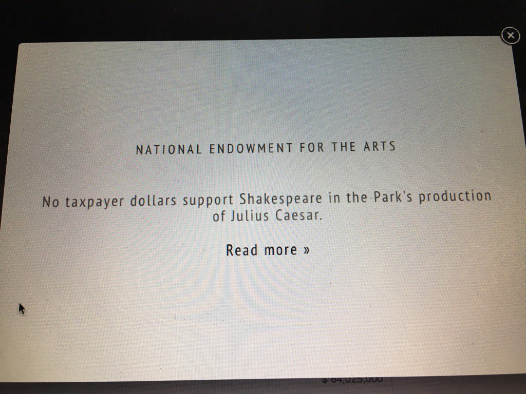 The Public Theater defends 'Julius Caesar' backlash with fire statement about the role of theater