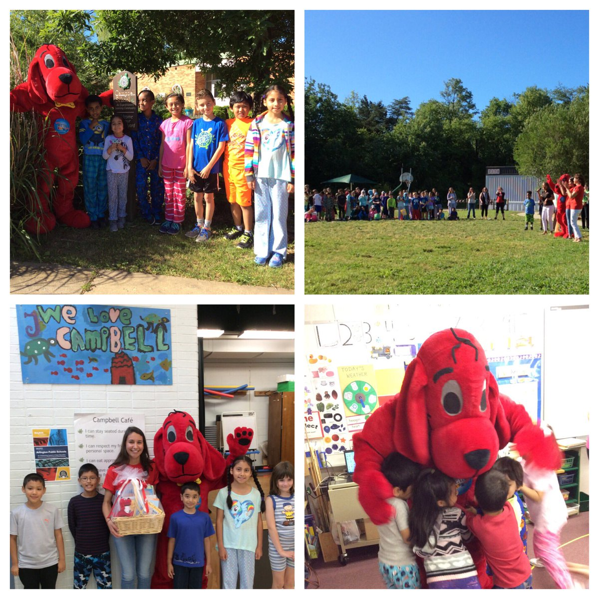 Clifford came to congratulate <a target='_blank' href='http://twitter.com/CampbellAPS'>@CampbellAPS</a> for the most entries in the WETA writing contest! <a target='_blank' href='http://twitter.com/wetatvfm'>@wetatvfm</a> <a target='_blank' href='http://search.twitter.com/search?q=YoungWriters'><a target='_blank' href='https://twitter.com/hashtag/YoungWriters?src=hash'>#YoungWriters</a></a>'Contest <a target='_blank' href='http://search.twitter.com/search?q=mostever'><a target='_blank' href='https://twitter.com/hashtag/mostever?src=hash'>#mostever</a></a> <a target='_blank' href='https://t.co/2UTcx00Bnx'>https://t.co/2UTcx00Bnx</a>