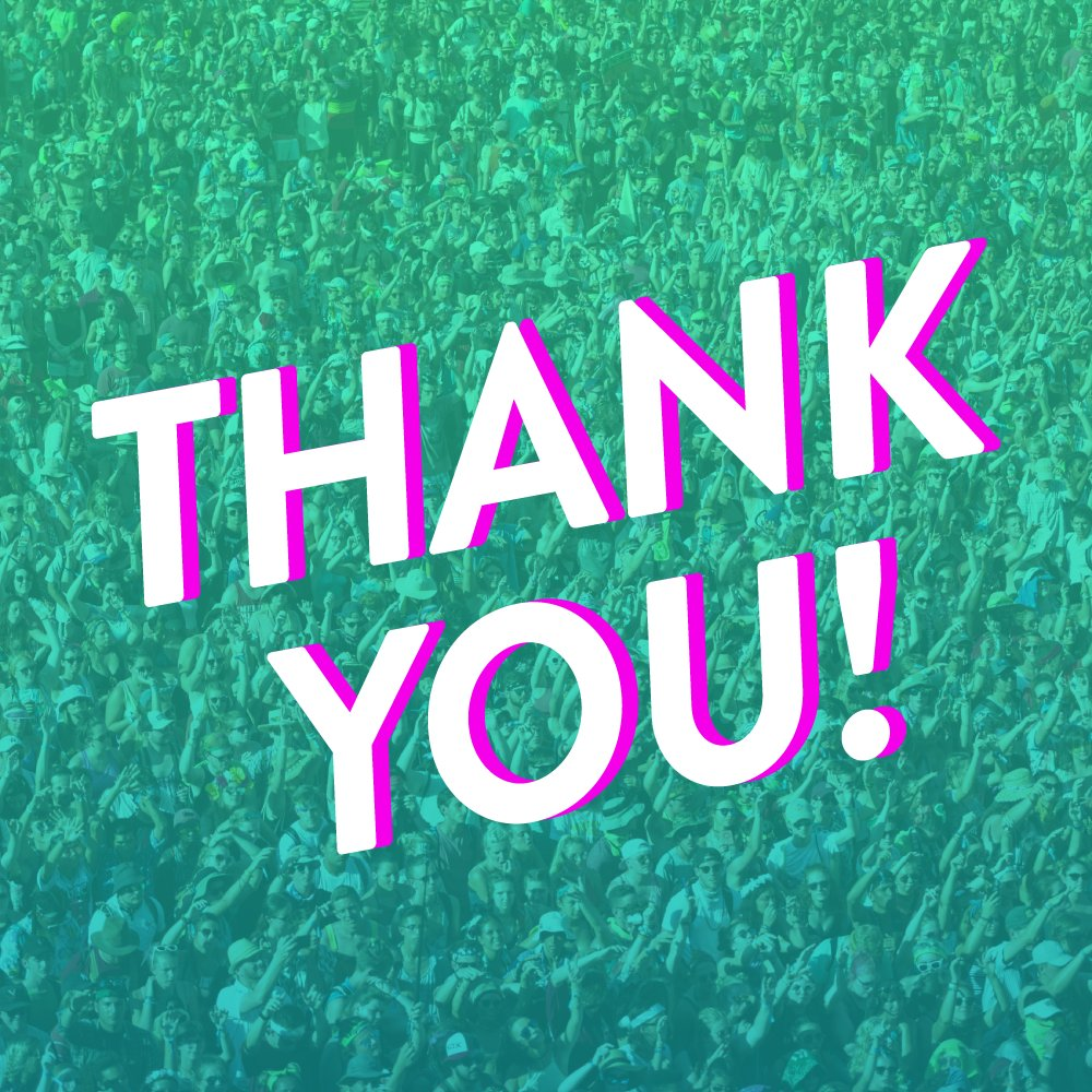 "You Re Amazing Thank You: Bonnaroo On Twitter: ""YOU Are What Make This Festival So"