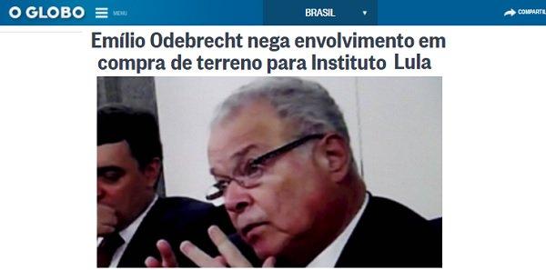 Dono da Odebrecht, Emílio diz que não teve negócios com Lula - https://t.co/NgrXKpybHw