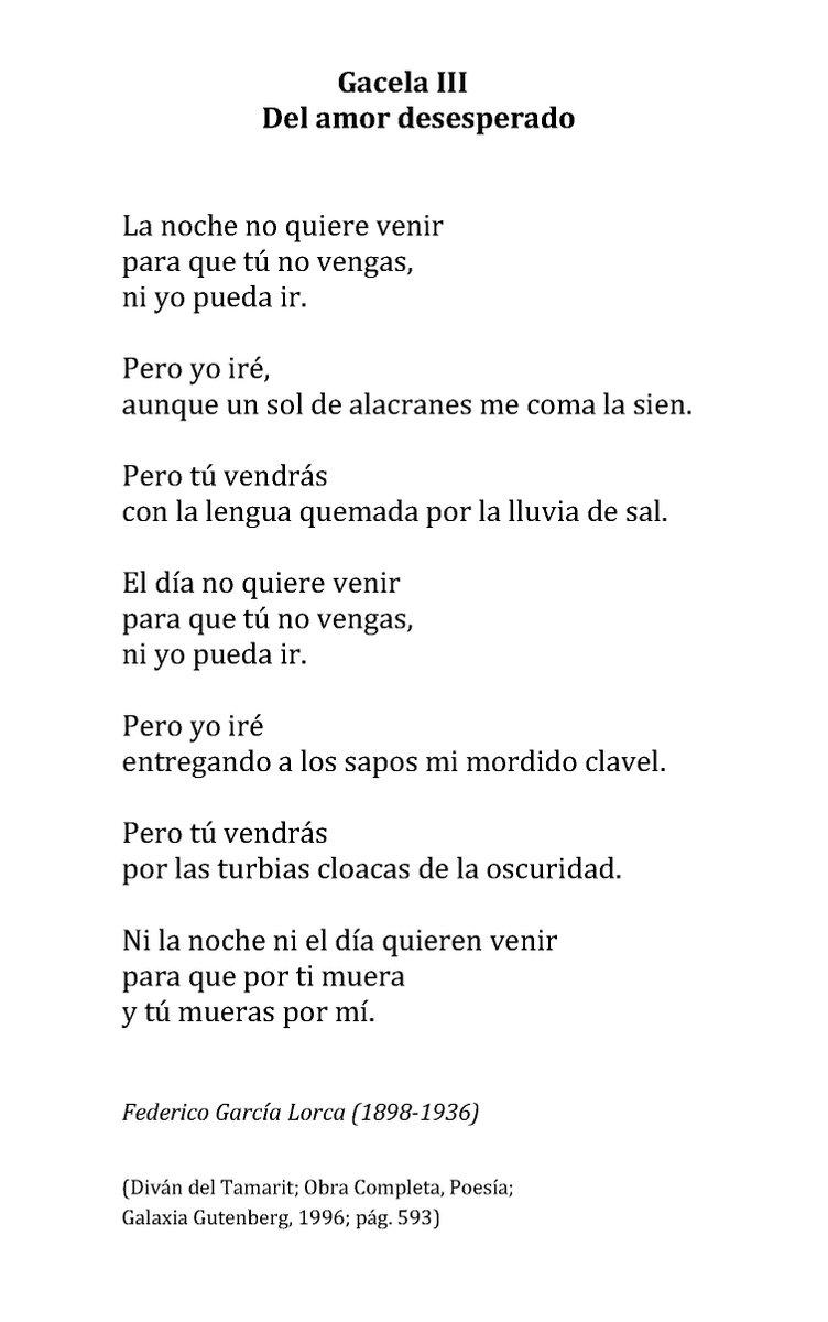 Un Poema Al Día On Twitter Federico García Lorca Del Amor