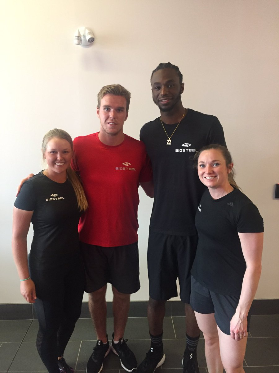 Fun day training with #TeamBiosteel  athletes! @cmcdavid97 @22wiggins...
