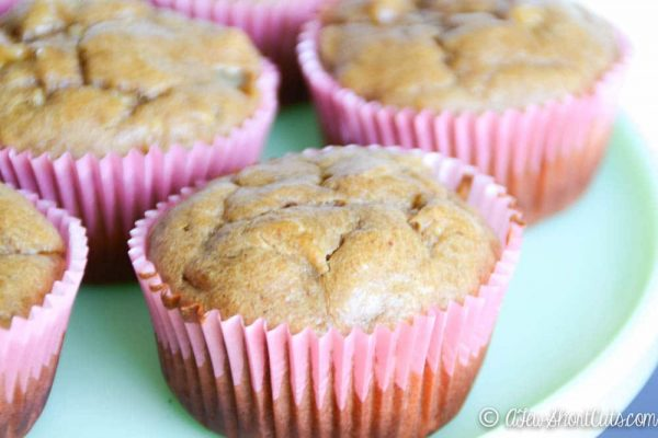 Flourless Peanut Butter & Banana Muffins
