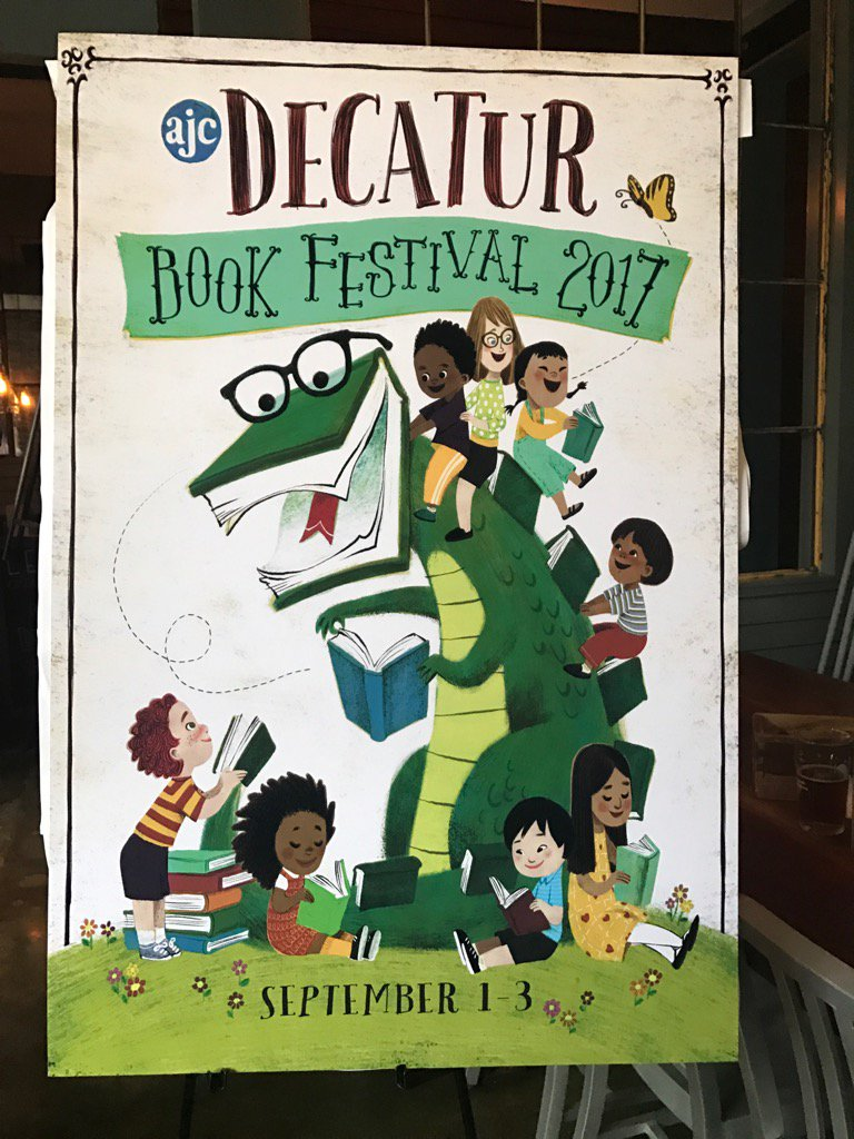 Madly in love with LeUyen's fantastic poster for @DBookFestival https://t.co/un9WtZECKi