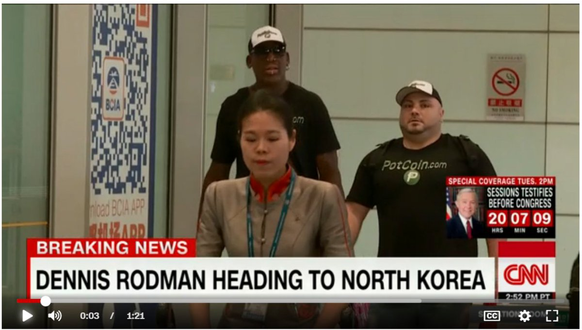 Dennis Rodman's latest trip to North Korea is sponsored by the Bitcoin of weed