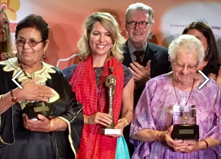 Aicha Echenna a été désignée cette semaine parmi les femmes de l'année 2017 par le Prix Monte-Carlo. Bravo! https://t.co/XAfAXrk2zx