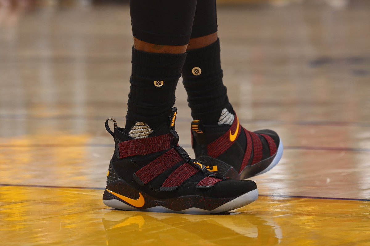 best sneakers f6696 7fa3a lebron james in the nike zoom lebron soldier 11 for game 5 vs golden state