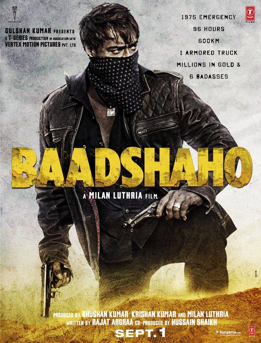 Baadshaho First Look Poster starring Ajay Devgn, Emraan Hashmi