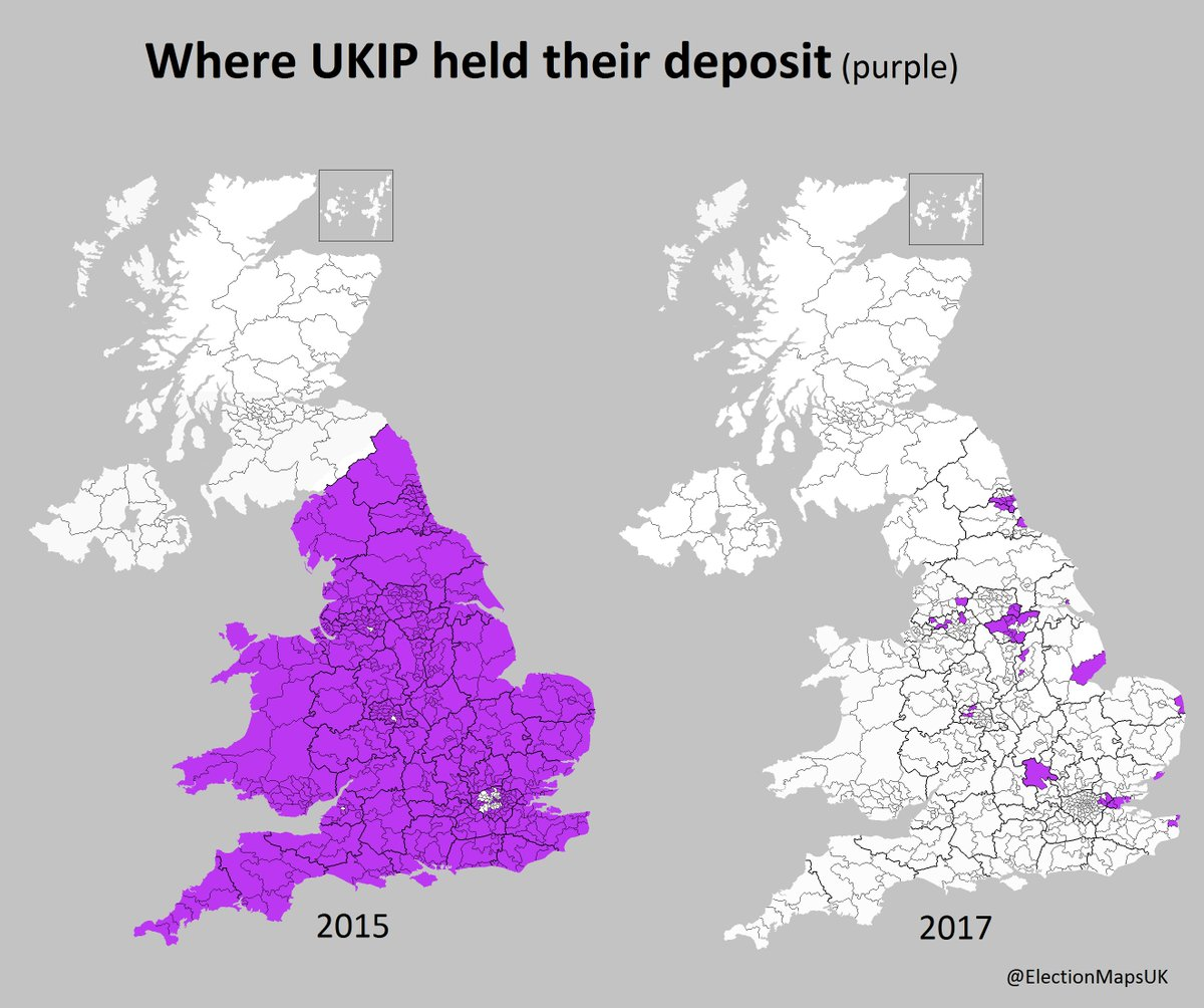 Map Of England 2015.Election Maps Uk On Twitter In 2015 Ukip Lost Only 30 Deposits In