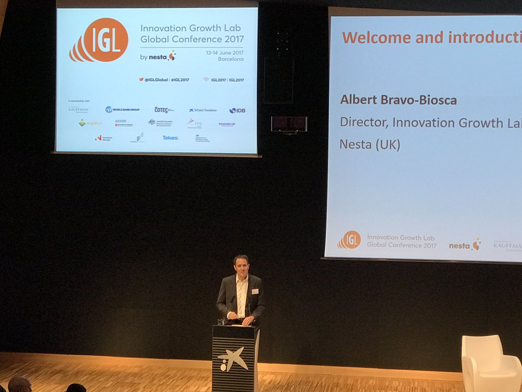 Innovation requires evidence @ABravoBiosca of @nesta_uk @IGLglobal #IGL2017 #barcelona https://t.co/s5RLFaaaXk