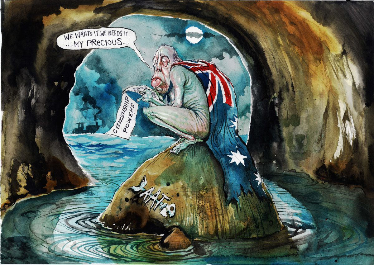 'My precious...' @roweafr's latest cartoon. For more:  https://t.co/D2Cj5Sg3xU #auspol https://t.co/WHOZDCODmB