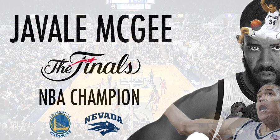 Congrats to the @warriors and @JaValeMcGee34, the first Wolf Pack player to win an NBA title! #BattleBorn https://t.co/j9BfQuoRVM