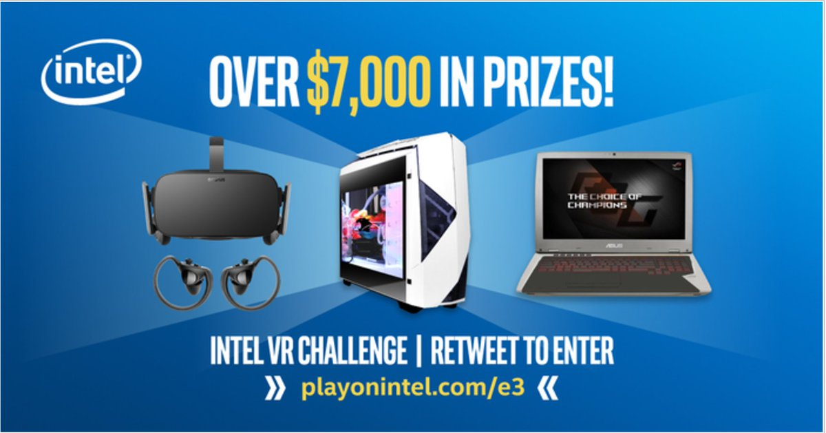 Into VR? Retweet to win a new #VR-ready gaming rig in the #Intel VR Challenge! #E32017 #contest #ad https://t.co/pJhInp3x2N