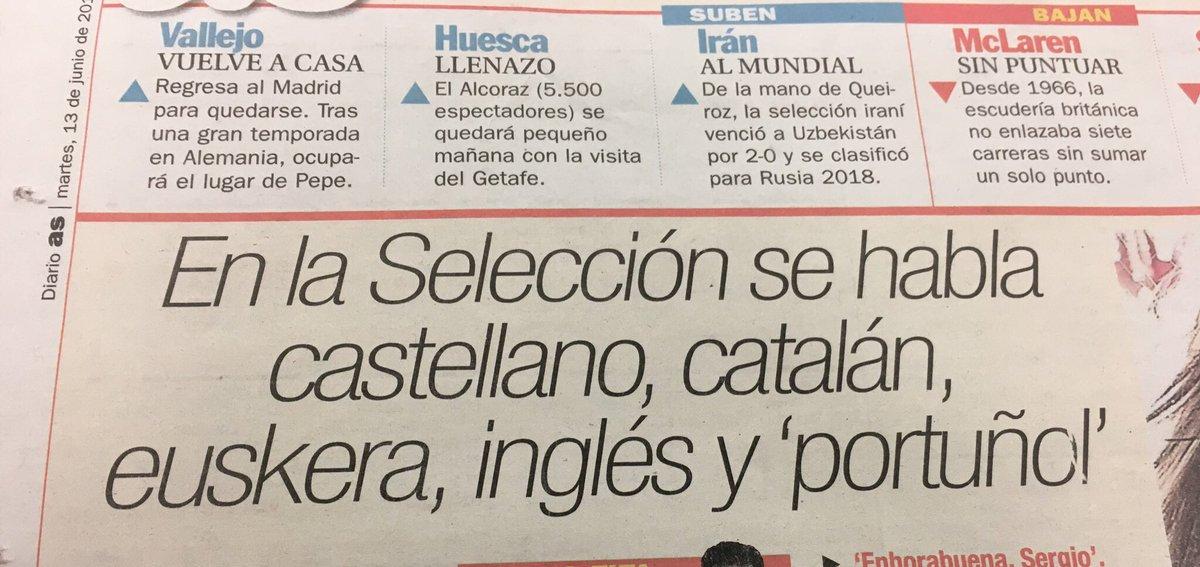 """Castellano, catalán, euskera, inglés y """"eseidiomararoquenoesniportuguésnicastellano"""" https://t.co/U4uw1z4MoE"""