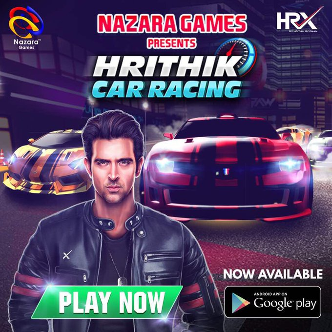 A racing game on me ! Sweet. Grab the wheel, rev your engine and lets see what you'r made of with #HrithikCarRacing: https://t.co/1jQ1J1RWGS https://t.co/aMfXrGB2fL