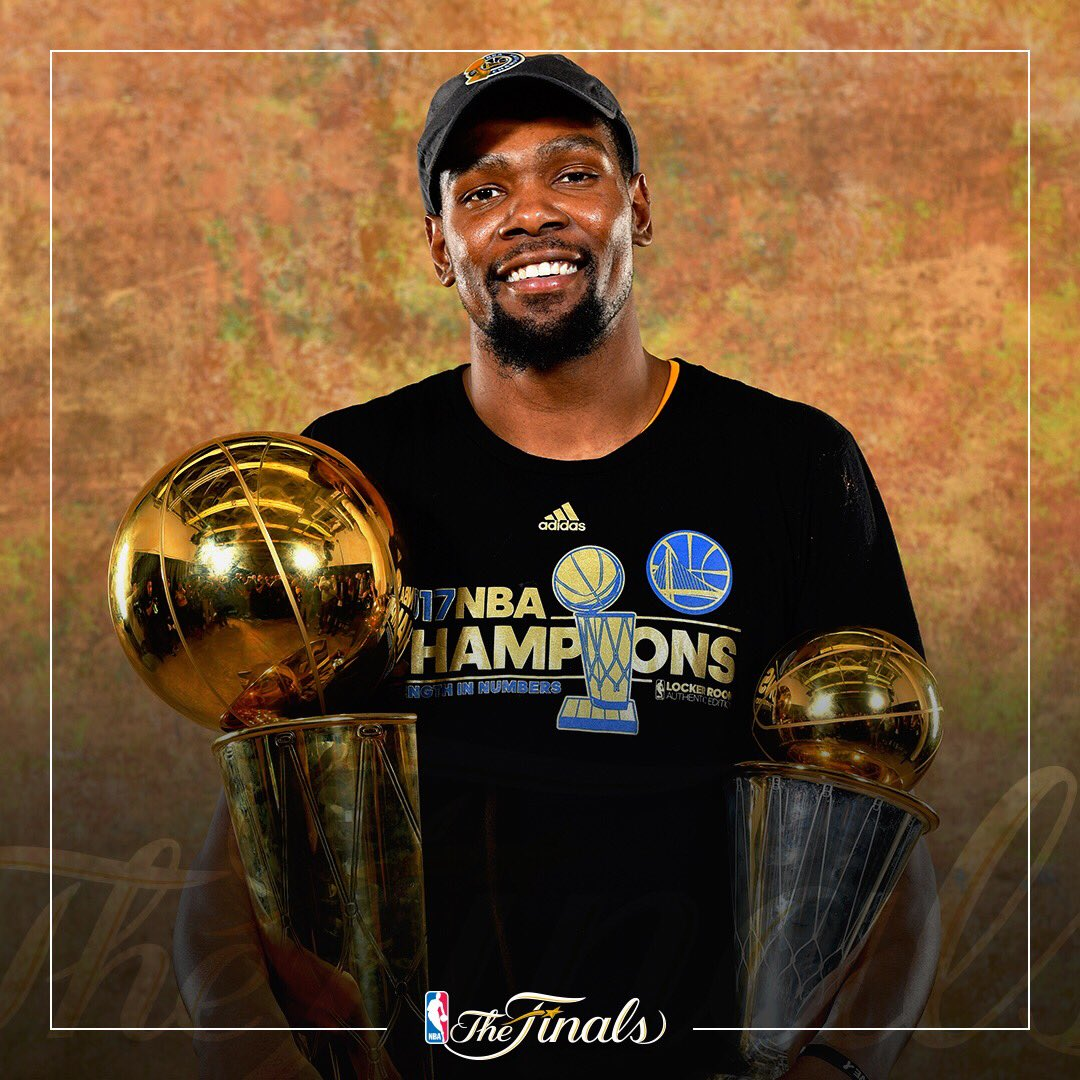 "Nba: NBA On Twitter: ""2017 NBA Champion & Finals MVP, @KDTrey5"