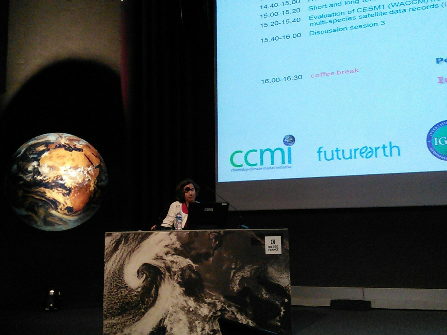 """#ccmi2017 scientific meeting kicking off to good start. Béatrice Josse: """"We are trying to host you as warmly as possible"""". Temp 25C outside! https://t.co/Yf83OJzsA1"""