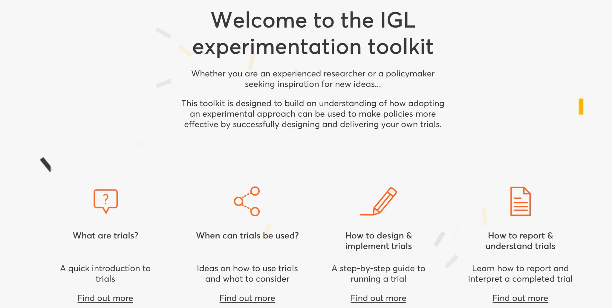 Experimentation tool kit is now live! Check out top tips on how an experimental approach improves policies #IGL2017 https://t.co/unKbjrz3Vk https://t.co/cpNzFFoNI8