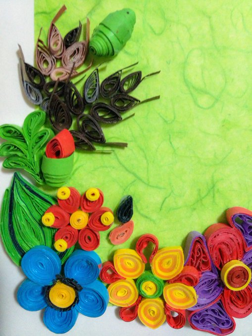 Quilling – Flowers and Frame