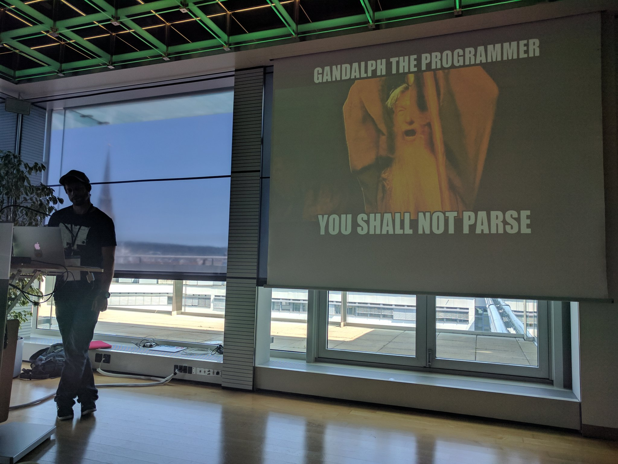 """""""You shall not parse!"""" @julien_dot_may great take on API's at #tamediatx https://t.co/7hCrJr57nu"""