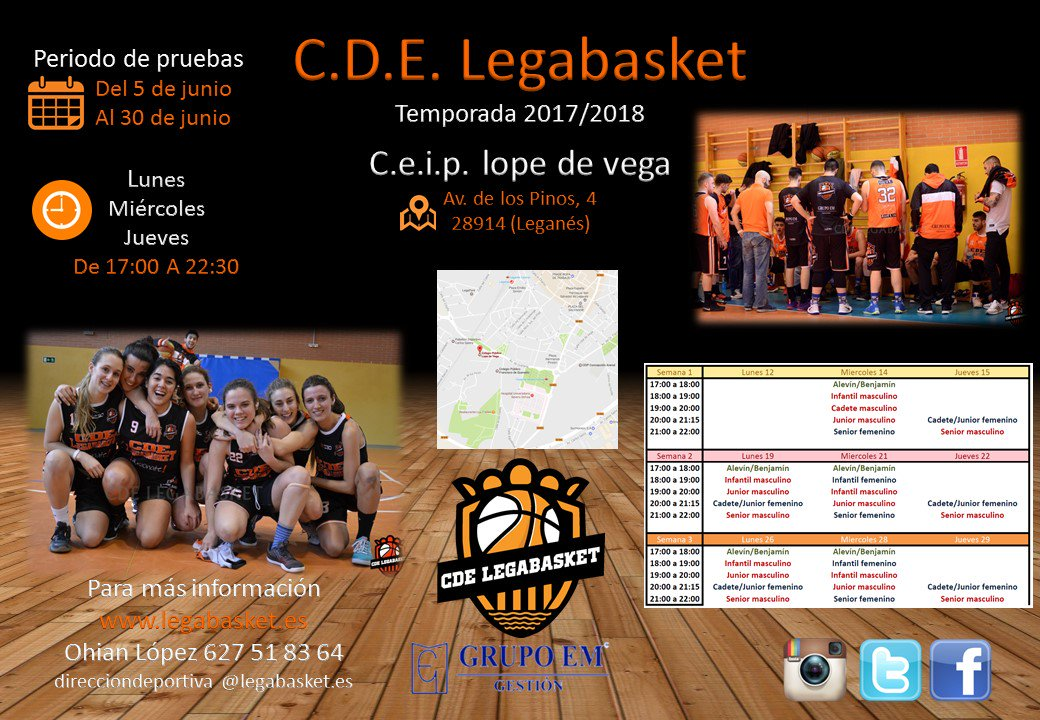 Legabasket Calendario.Cde Legabasket On Twitter Calendario De Pruebas Segunda