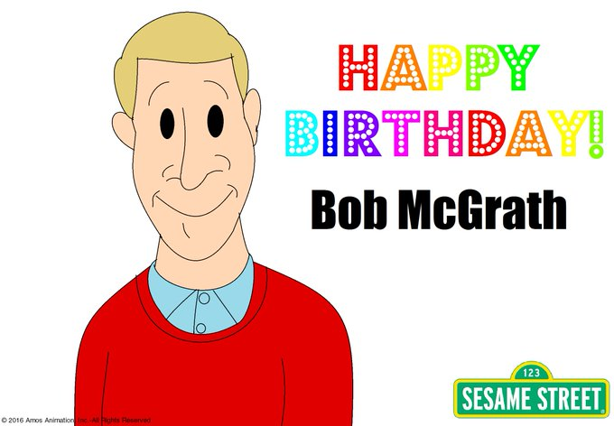 Happy 85th Birthday to the star of Sesame Street, Bob McGrath!