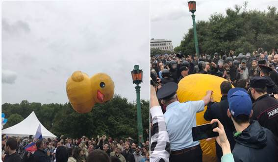 Image result for duck arrested russia