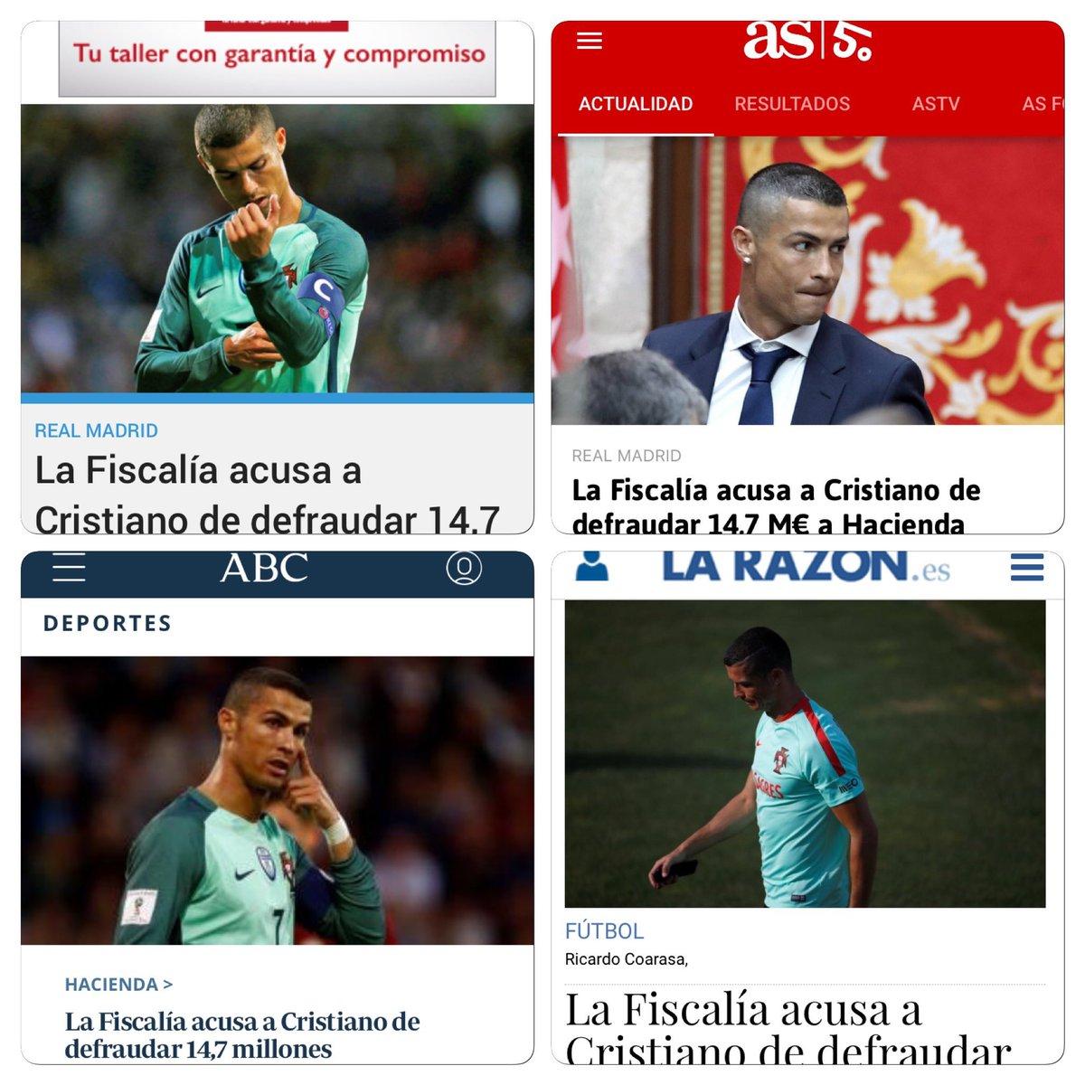 Avui és dia de jugar a trobar noticia sobre el Cristiano on se'l vegi amb samarreta del Madrit https://t.co/vGAjCdd7IN