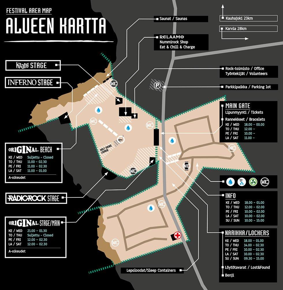 Nummirock On Twitter Map Of Festival Area Is Here Https T Co