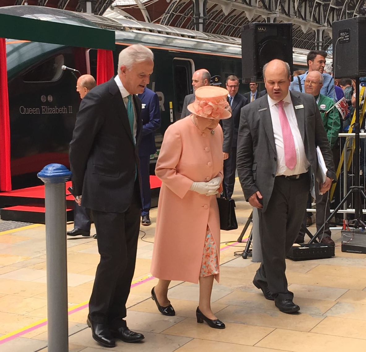 The first Royal Train journey happened 175 years ago today.  We were at Paddington station today as this historic event was celebrated