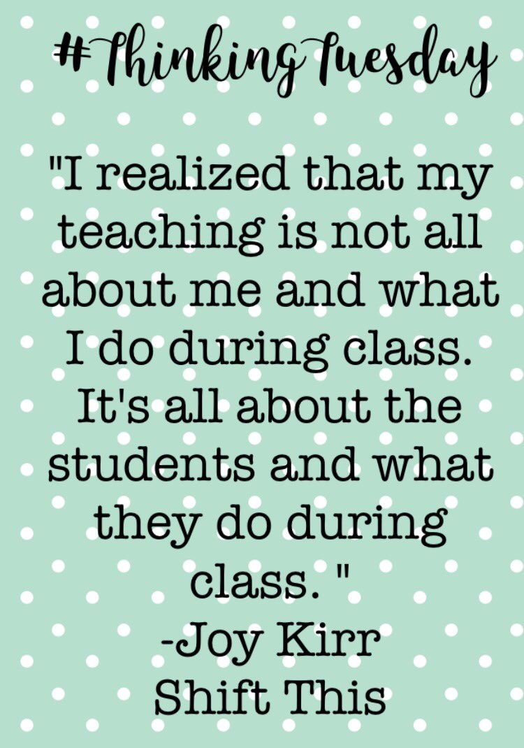 @JoyKirr 's quote has stuck with me this past week.  #ShiftThis #thinkingTuesday https://t.co/7Nie02YeSU
