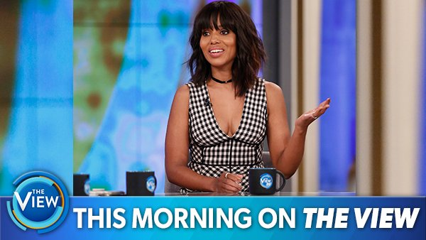 THIS MORNING ON @THEVIEW: The fabulous @kerrywashington weighs in on #HotTopics and talks @ScandalABC and #Cars3!