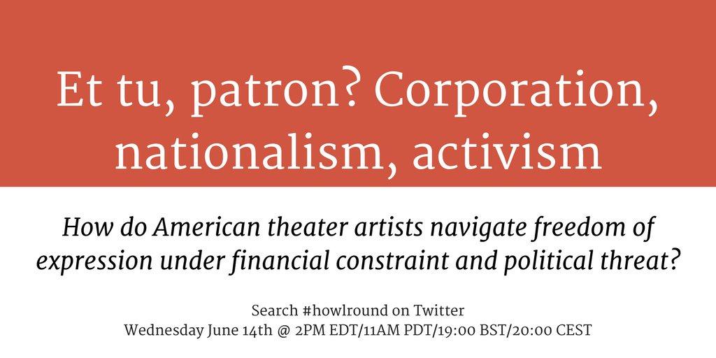 Thumbnail for Et tu, patron? Corporation, nationalism, activism