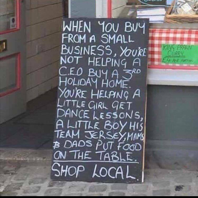 Brilliant chalkboard outside Local shop https://t.co/JK0sOwqVbo