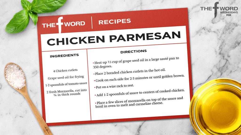 Gordon Ramsay Chicken Parmesan Recipe Written