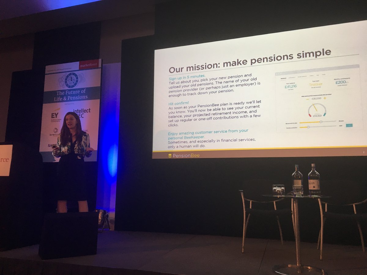 pensionbee on twitter our ceo romisavova is on stage right now at
