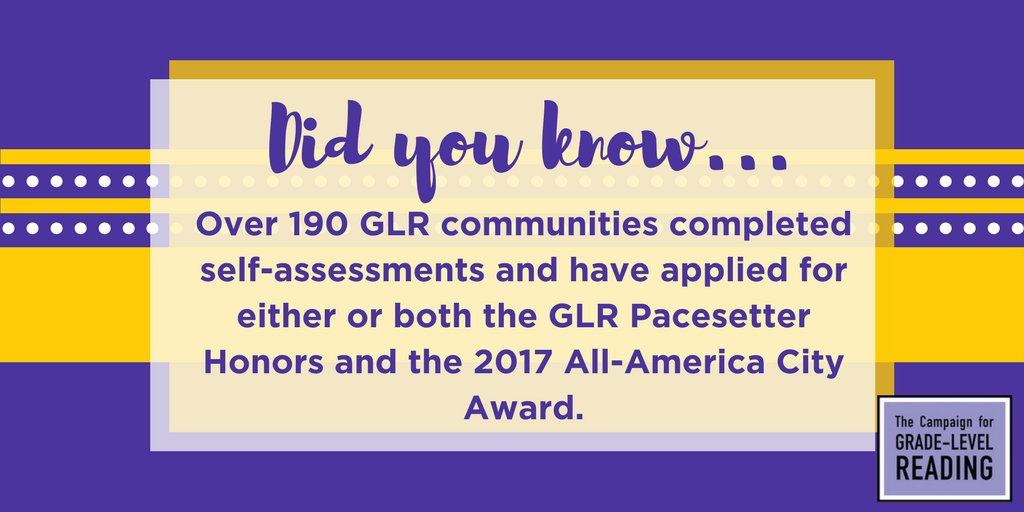 Our GLR communities are moving the needle in early school readiness! #GLRWeek https://t.co/ZIDtdriBs3