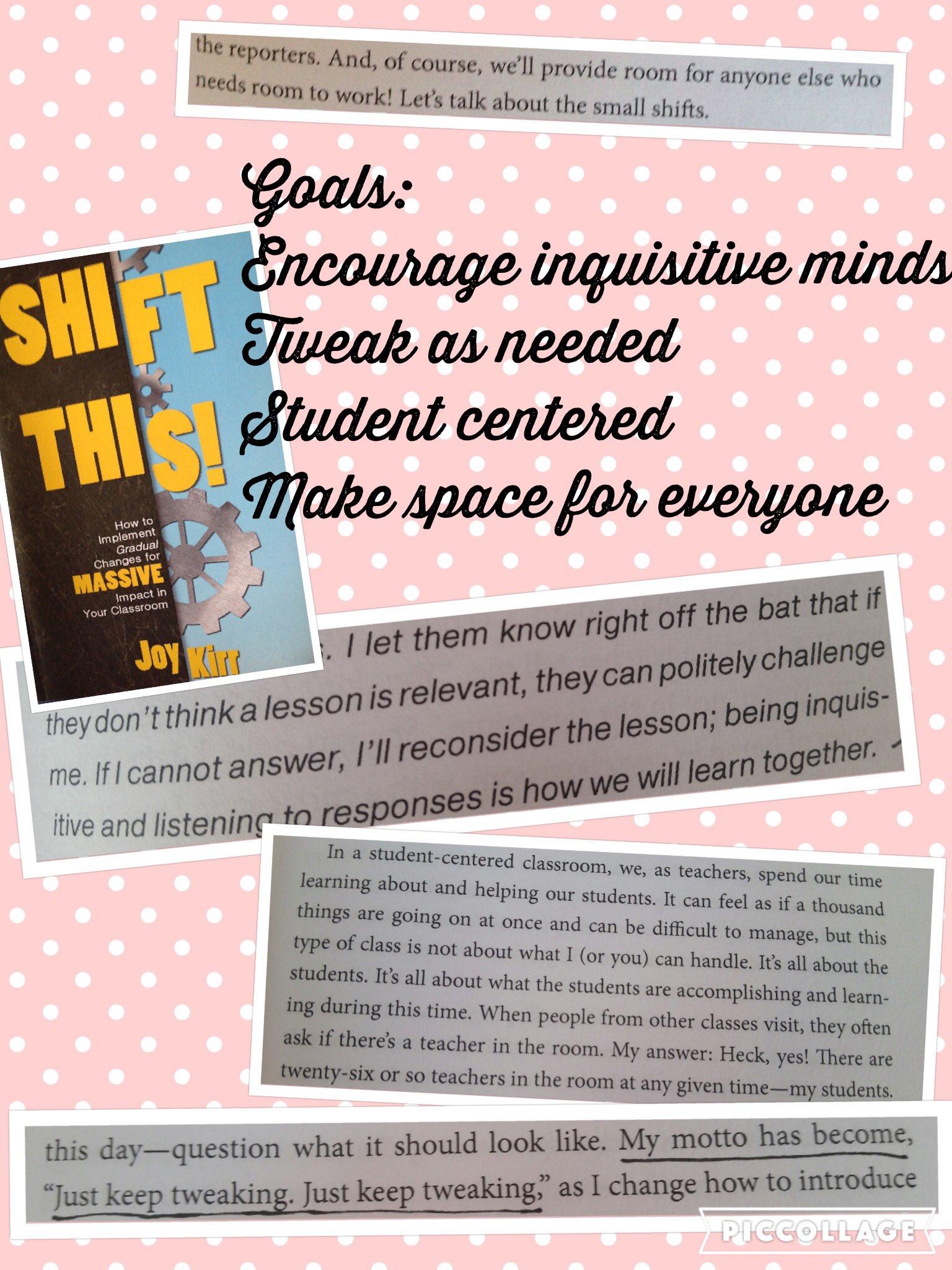 Inspiring, good stuff! Still more to read. #ShiftThis #wearewhitt #1718goals https://t.co/OZkbiYYU6g