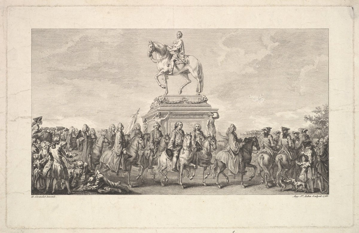 Augustin de Saint-#Aubin after Hubert F. #Gravelot (1699–1773) - the inauguration of the statue of #LouisXV. @metmuseum #finearts #peinture <br>http://pic.twitter.com/ZVhdvetpjq