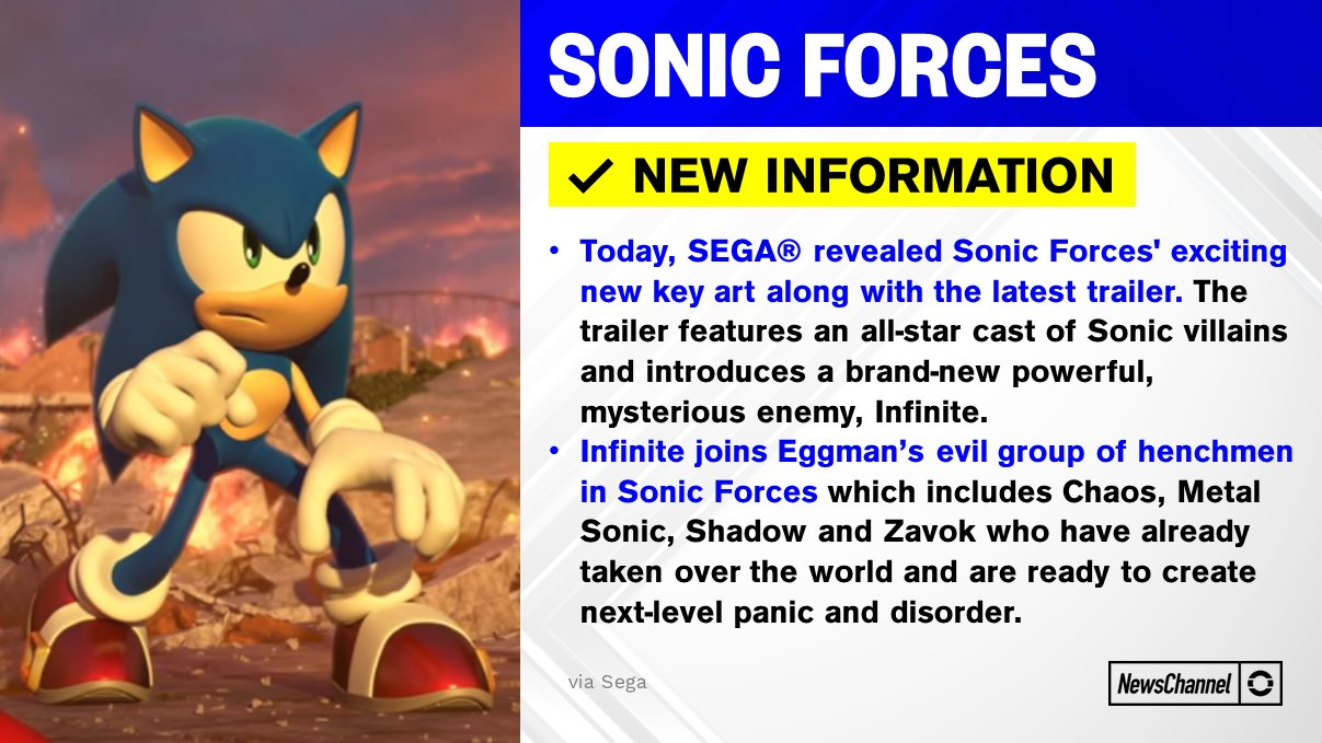 Tails Channel Sonic The Hedgehog News Updates Pa Twitter Press Release With New Sonicforces Details New Villain Infinite And The All Star Cast Of Sonic Villains Sonicnews Https T Co J5z82yxqe9